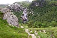 Steall Falls and the Nevis Gorge