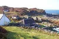 Smirisary village and beach from Glen Uig